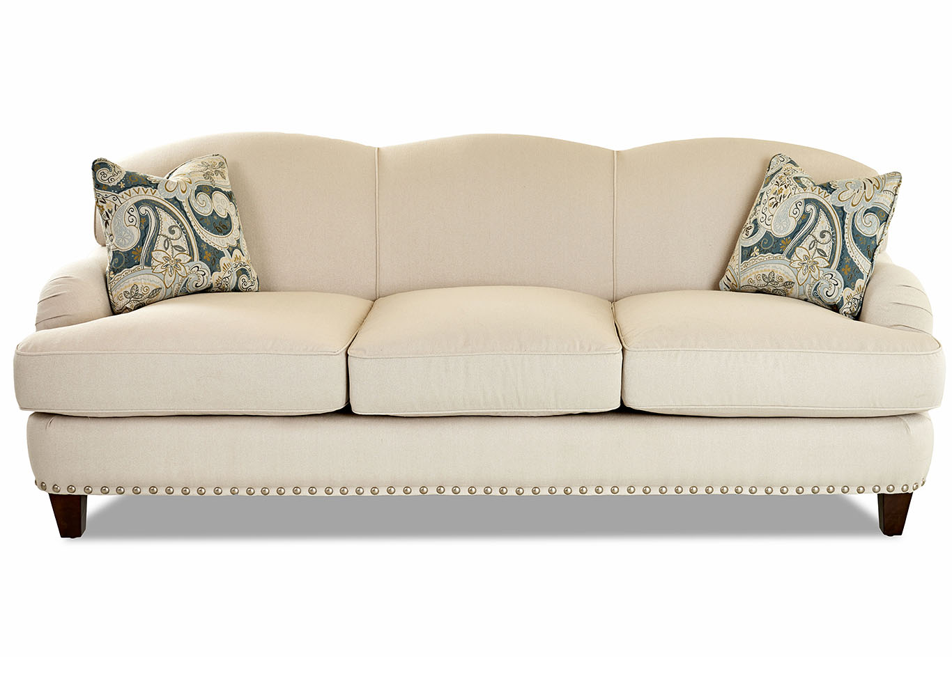 Albion Cream Fabric Sofa,Klaussner Home Furnishings