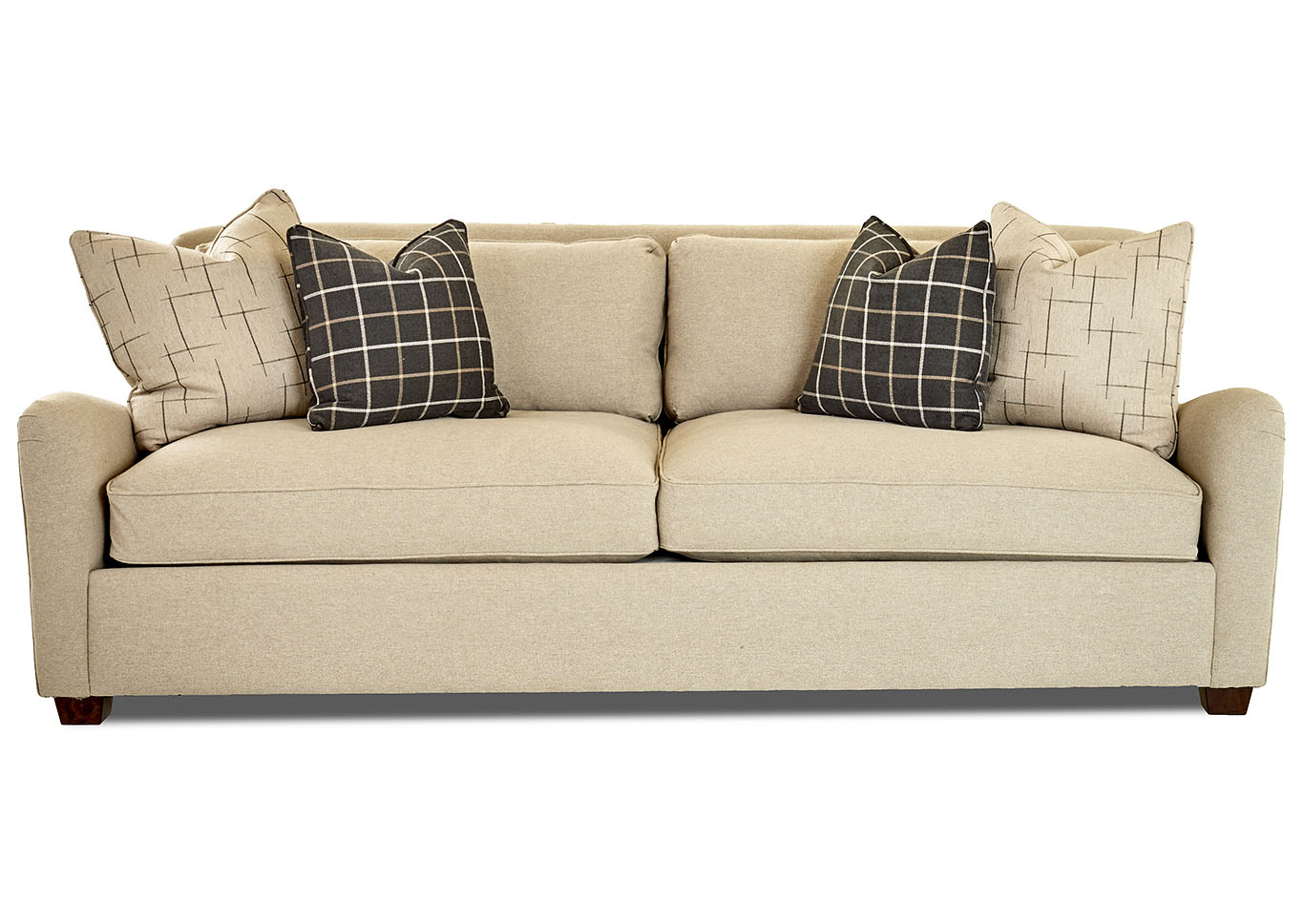 Reflection Beige Stationary Fabric Sofa,Klaussner Home Furnishings