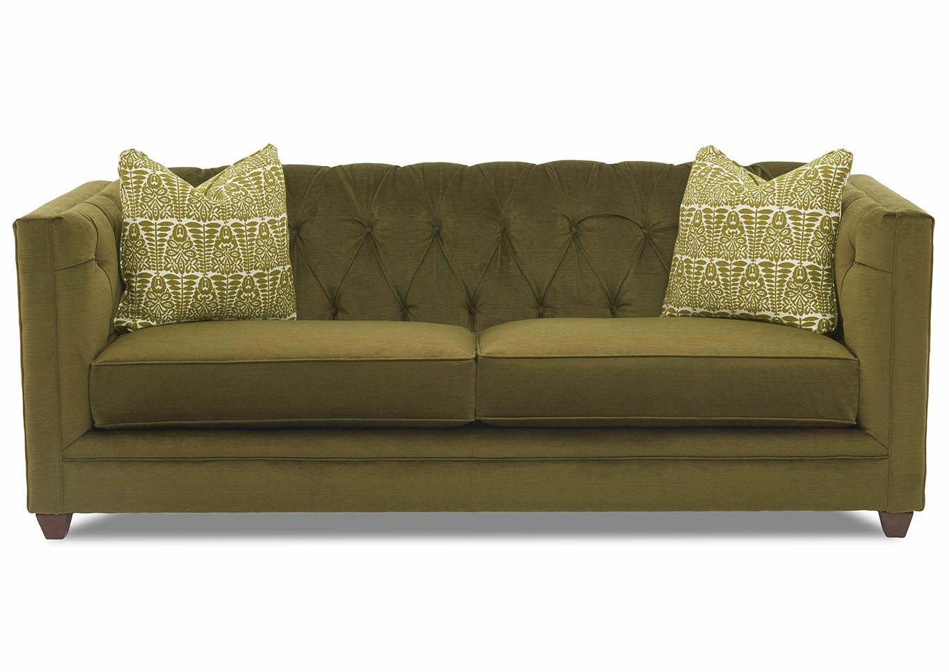 Felicity Algae Stationary Fabric Sofa,Klaussner Home Furnishings