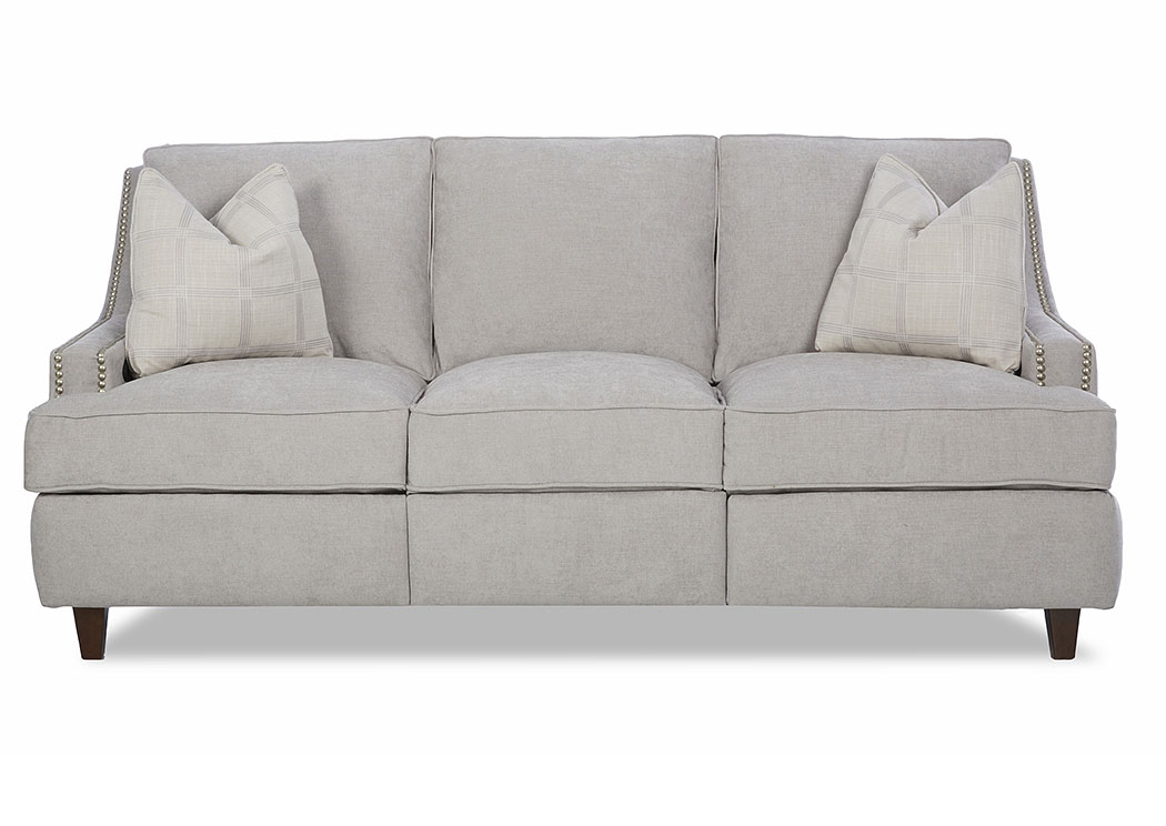 Empress Edwin Grey Reclining Fabric Sofa,Klaussner Home Furnishings