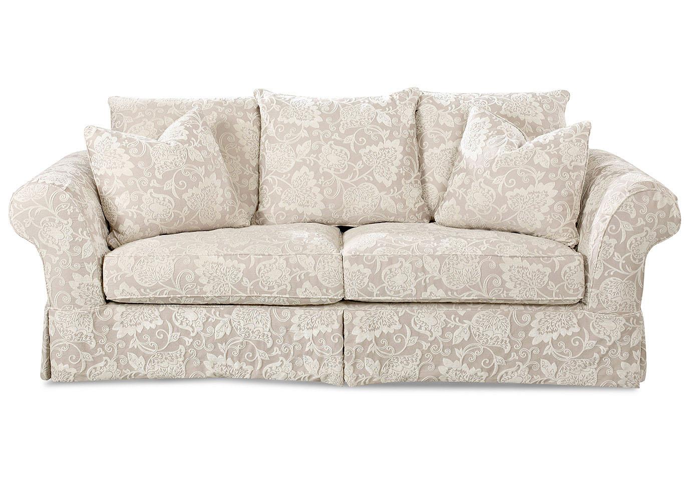 Write A Review - Charleston Renaissance Putty Pattern Fabric Sofa - Best Buy Furniture And Mattress