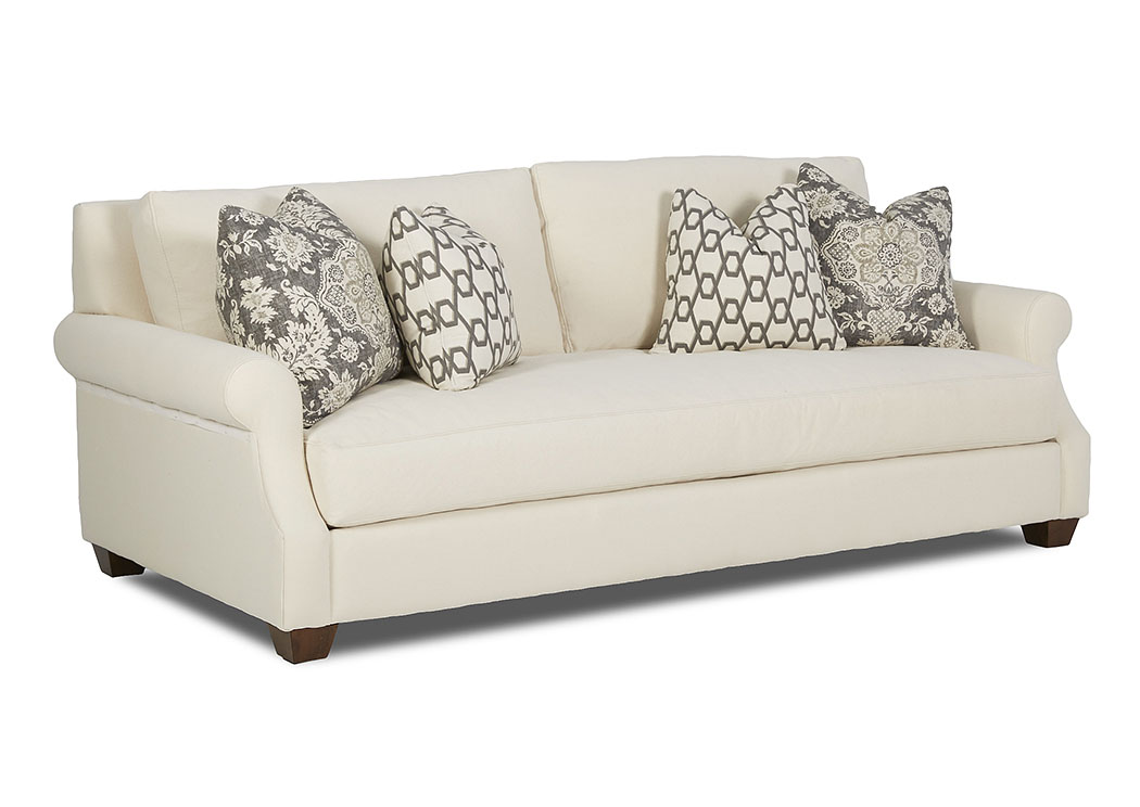 Barrett Bull Natural Stationary Fabric Sofa,Klaussner Home Furnishings