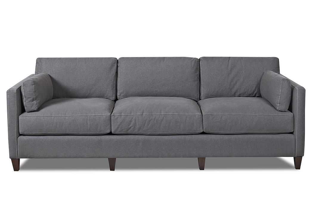Jordan Classic Grey Stationary Fabric Sofa,Klaussner Home Furnishings