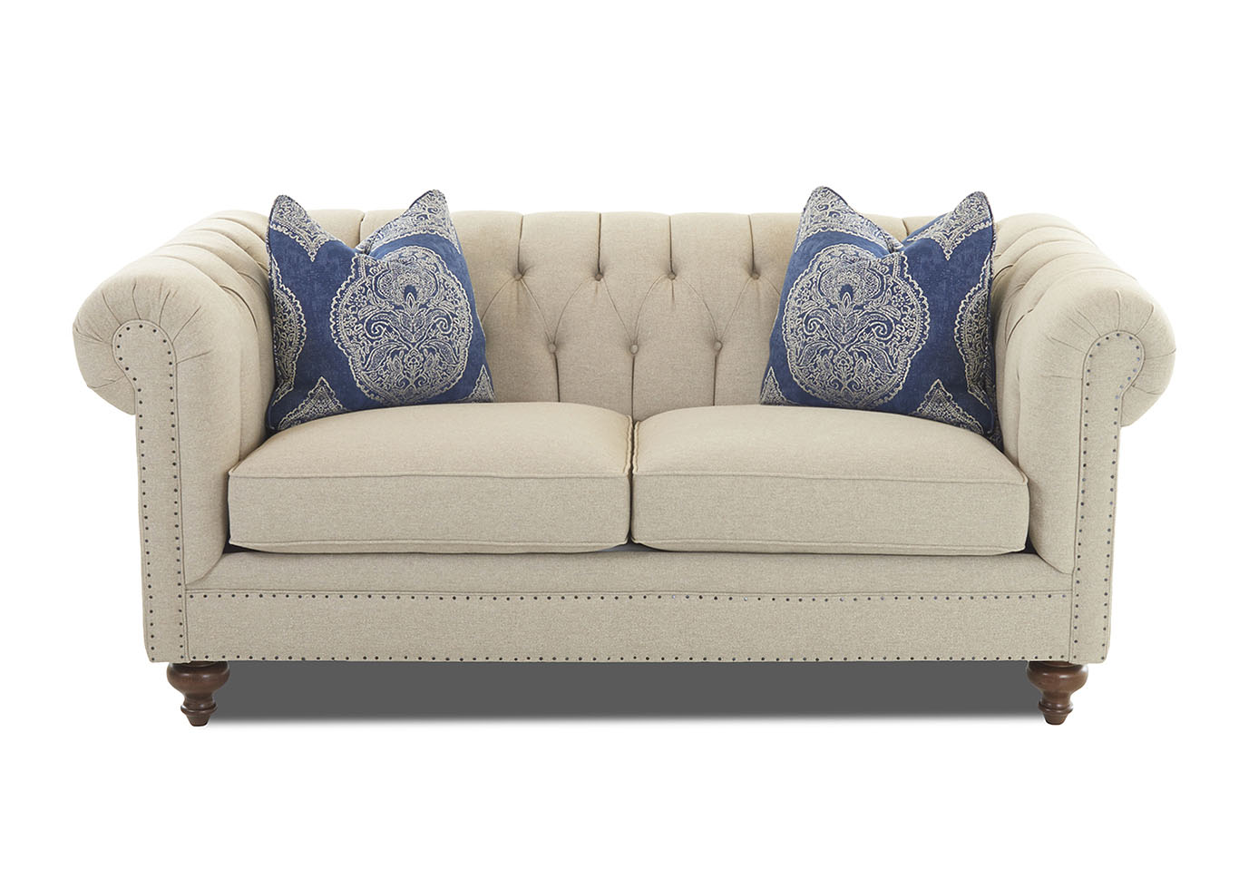 Charlotte Emma Beige Fabric Sofa,Klaussner Home Furnishings