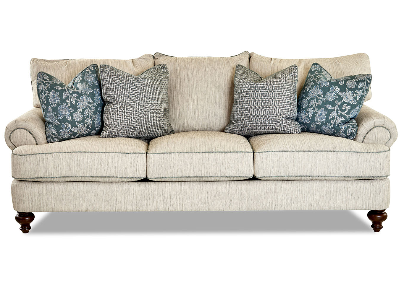 Ashworth Bailey Linen Stationary Fabric Sofa,Klaussner Home Furnishings