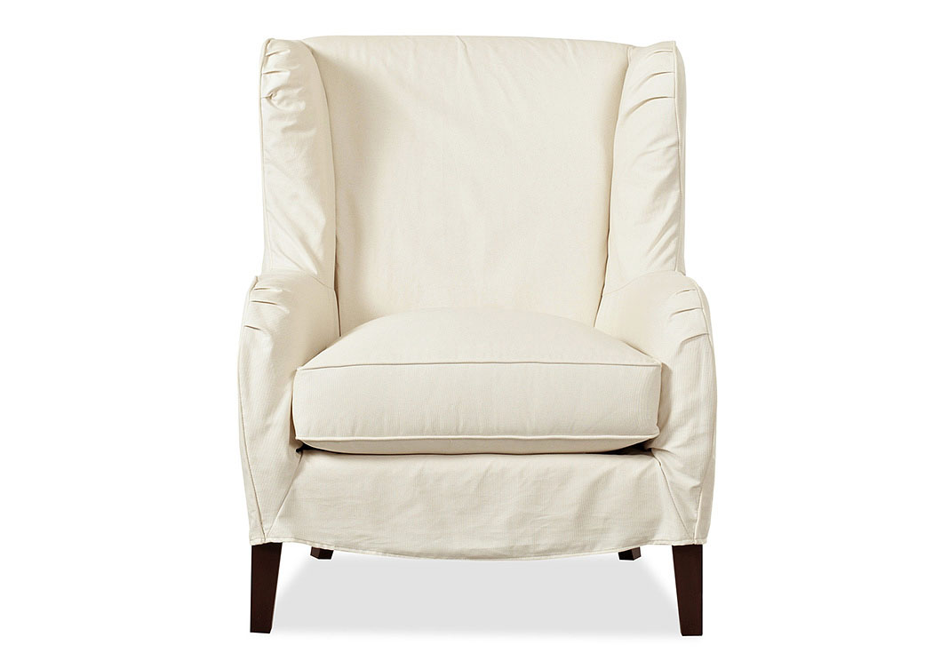 Polo Ranger Twill Natural Stationary Fabric Chair,Klaussner Home Furnishings