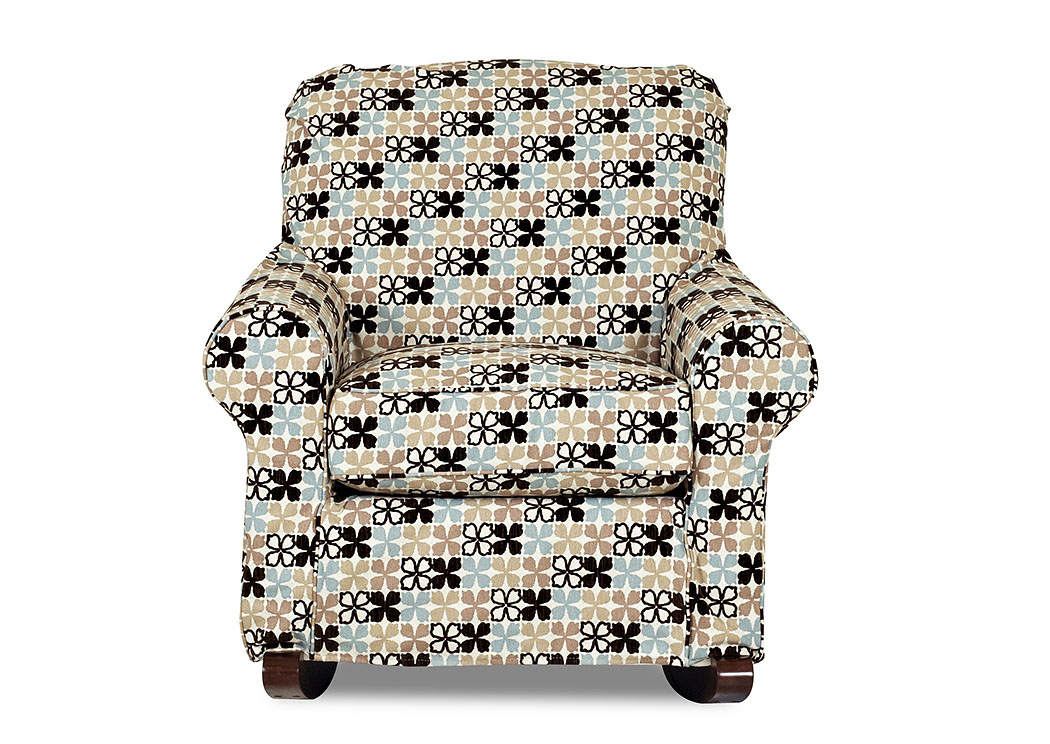 Old Town Flower Pattern Rocking Fabric Chair,Klaussner Home Furnishings
