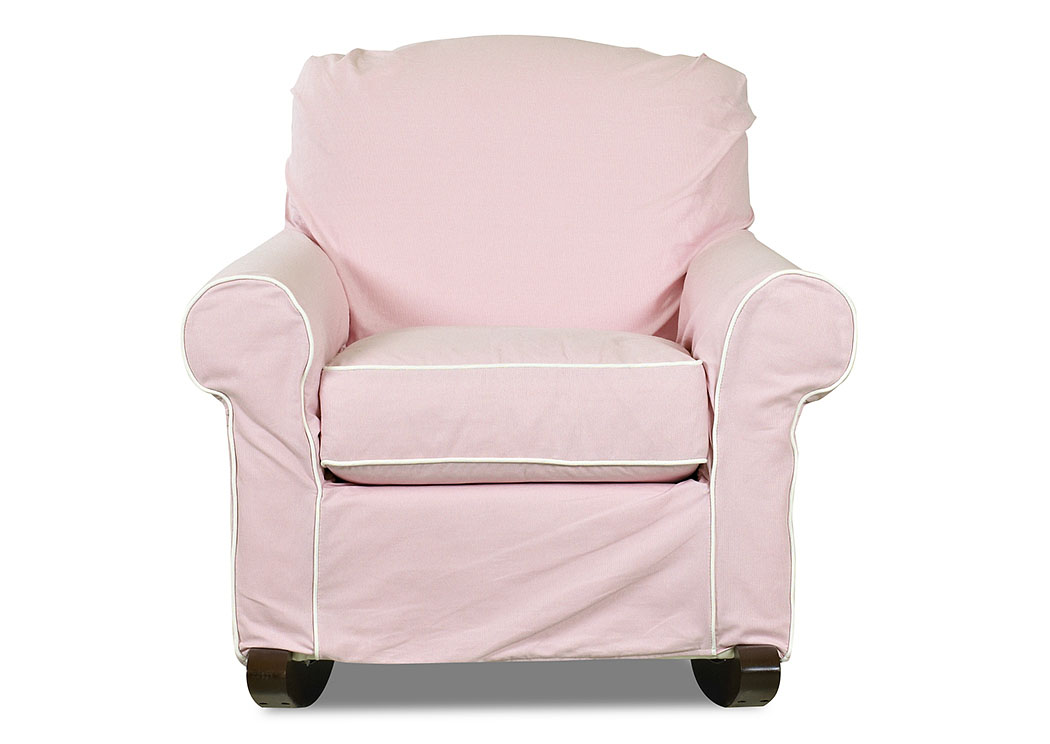 Old Town Tiara Pink Rocking Fabric Chair,Klaussner Home Furnishings