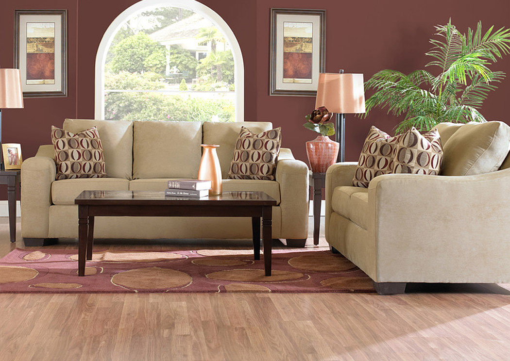 Darien Camel Sofa,Klaussner Home Furnishings