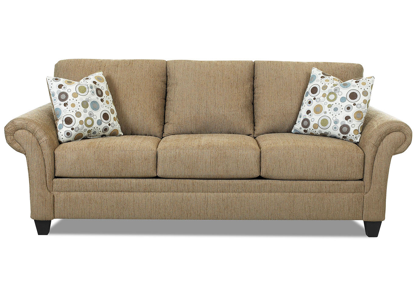 Hubbard Mocha Stationary Fabric Sofa,Klaussner Home Furnishings