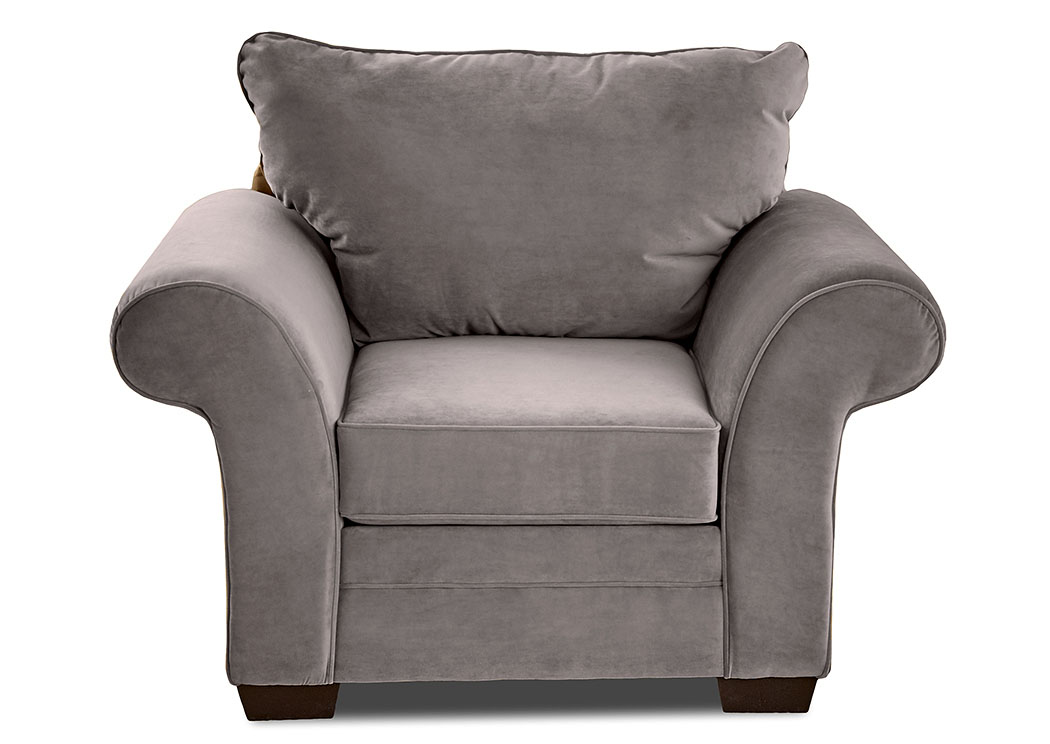 Holly Tina Asphalt Gray Stationary Fabric Chair,Klaussner Home Furnishings