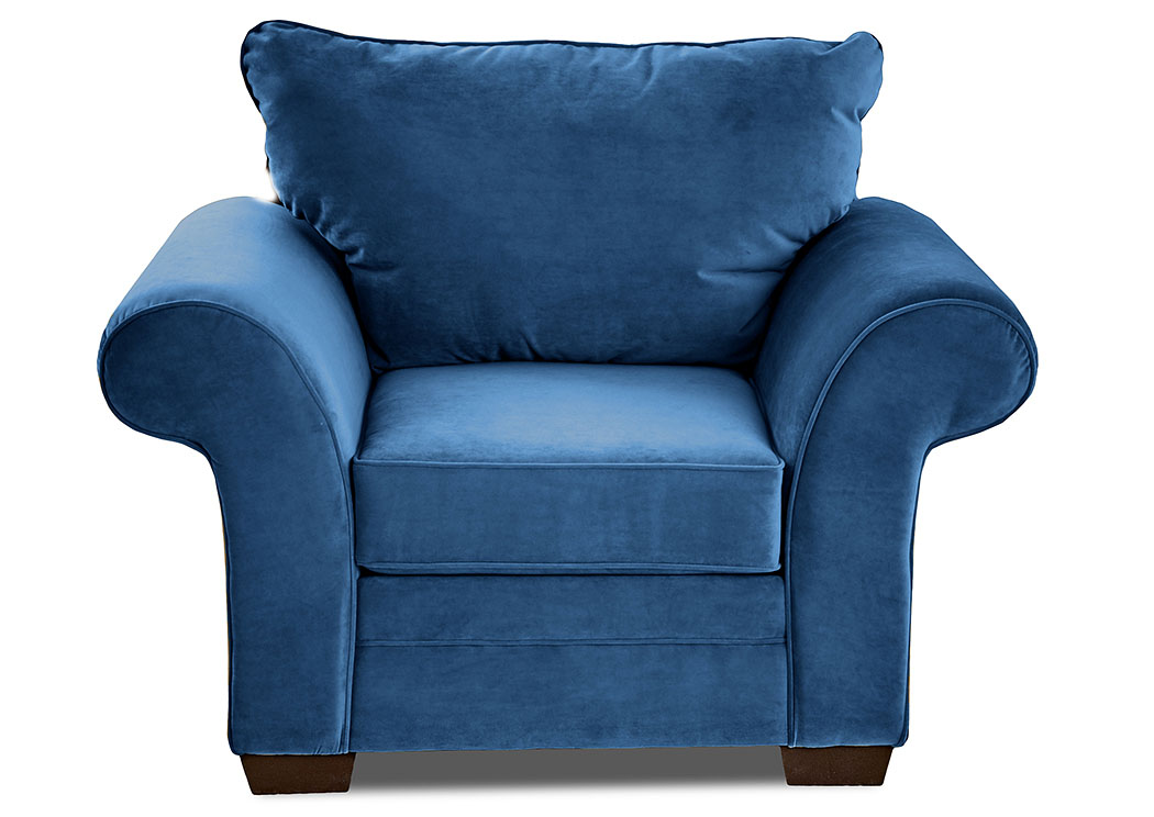 Holly Tina Gulfstream Blue Stationary Fabric Chair,Klaussner Home Furnishings