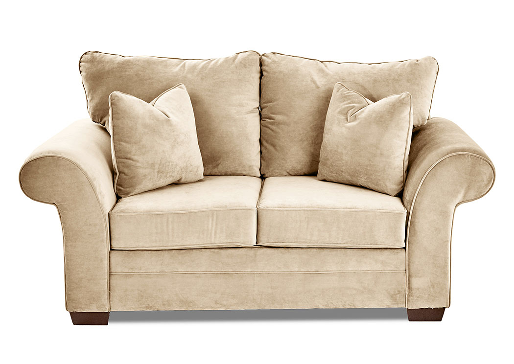 Picture of: Holly Tina Oyster Off White Stationary Fabric Loveseat Beacon Furniture Grand Cayman