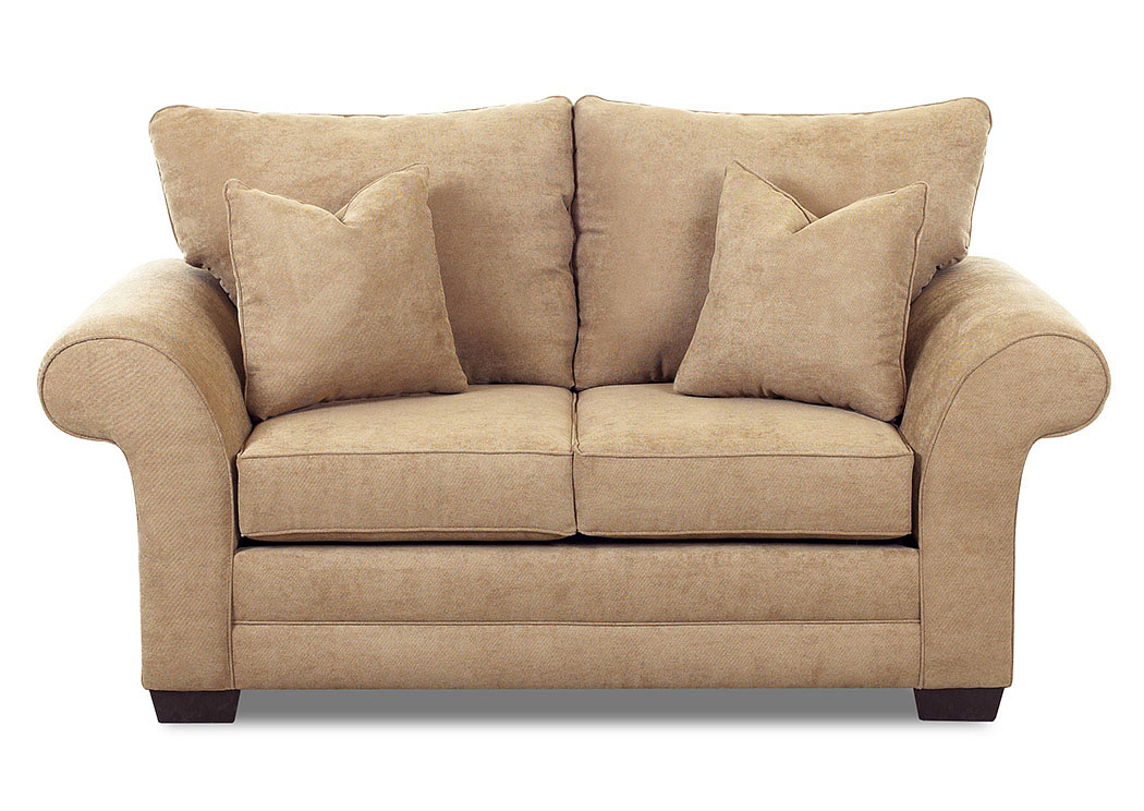 Holly Willow Bronze Stationary Fabric Loveseat,Klaussner Home Furnishings