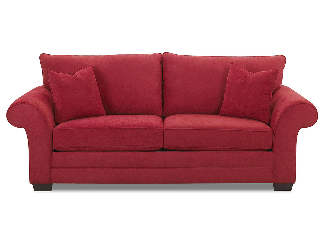Holly Willow Red Stationary Fabric Sofa,Klaussner Home Furnishings
