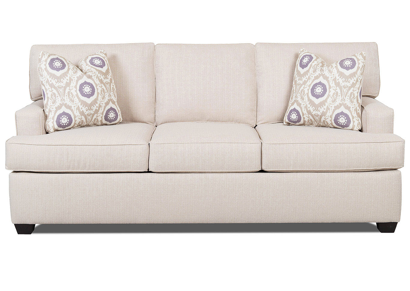 Cruze Flax Stationary Fabric Sofa,Klaussner Home Furnishings