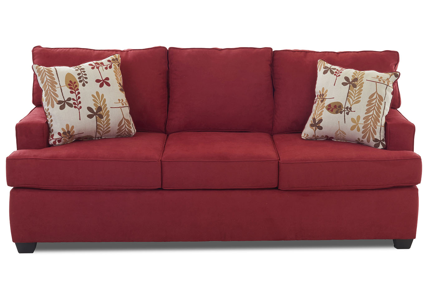 Cruze Red Stationary Fabric Sofa,Klaussner Home Furnishings
