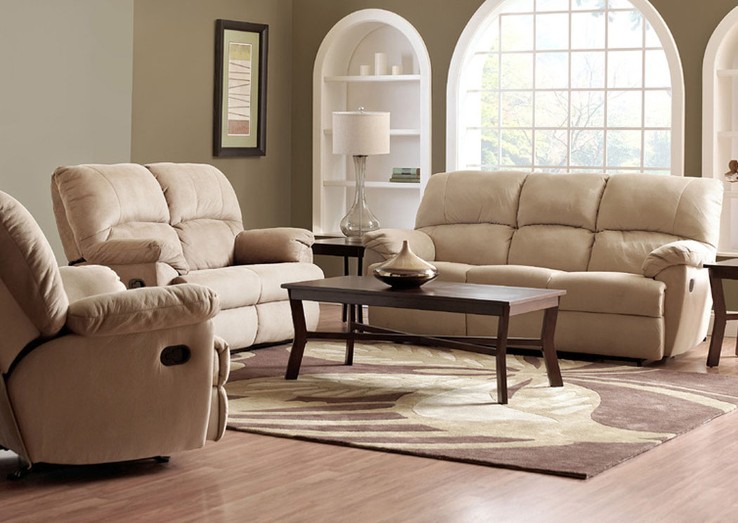 Fairweather Beige Reclining Sofa,Klaussner Home Furnishings