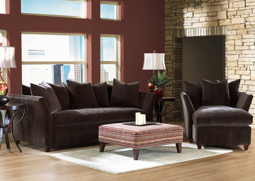 Fifi Chocolate Sofa,Klaussner Home Furnishings