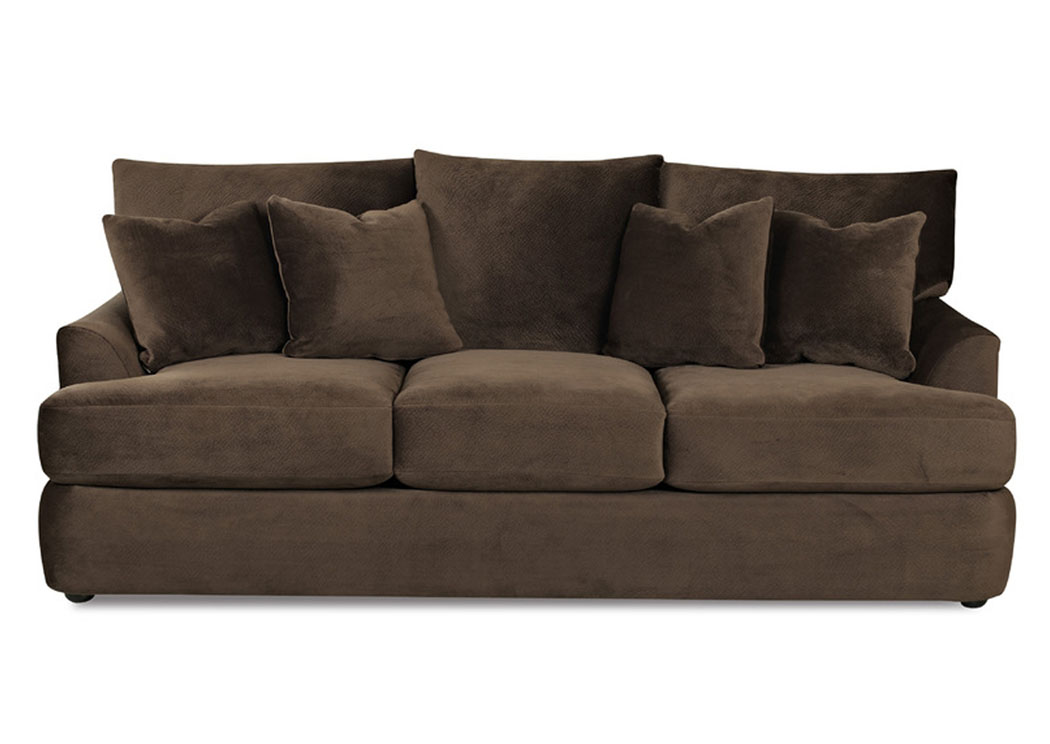 Findley Chocolate Sofa,Klaussner Home Furnishings