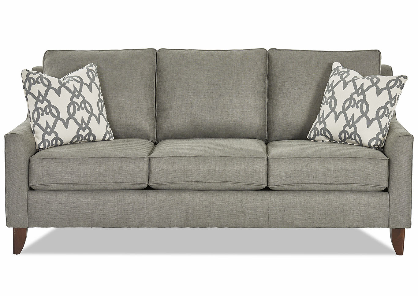Belton Smoke Stationary Fabric Sofa,Klaussner Home Furnishings