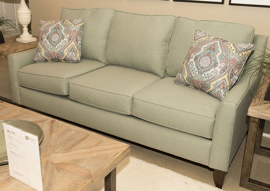 Belton Max Spa Green Stationary Fabric Sofa,Klaussner Home Furnishings