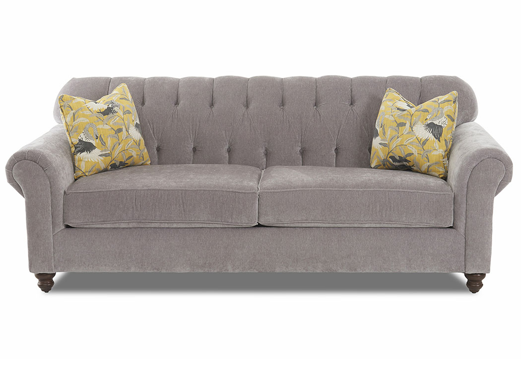 Sinclair Granite Stationary Fabric Sofa,Klaussner Home Furnishings