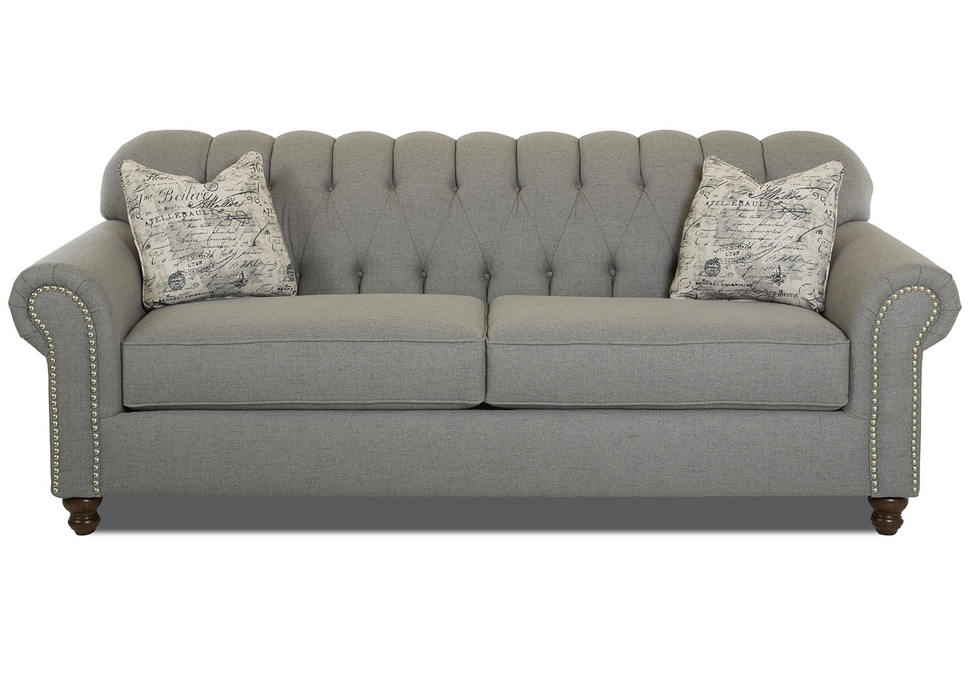 Sinclair Ash Stationary Fabric Sofa,Klaussner Home Furnishings