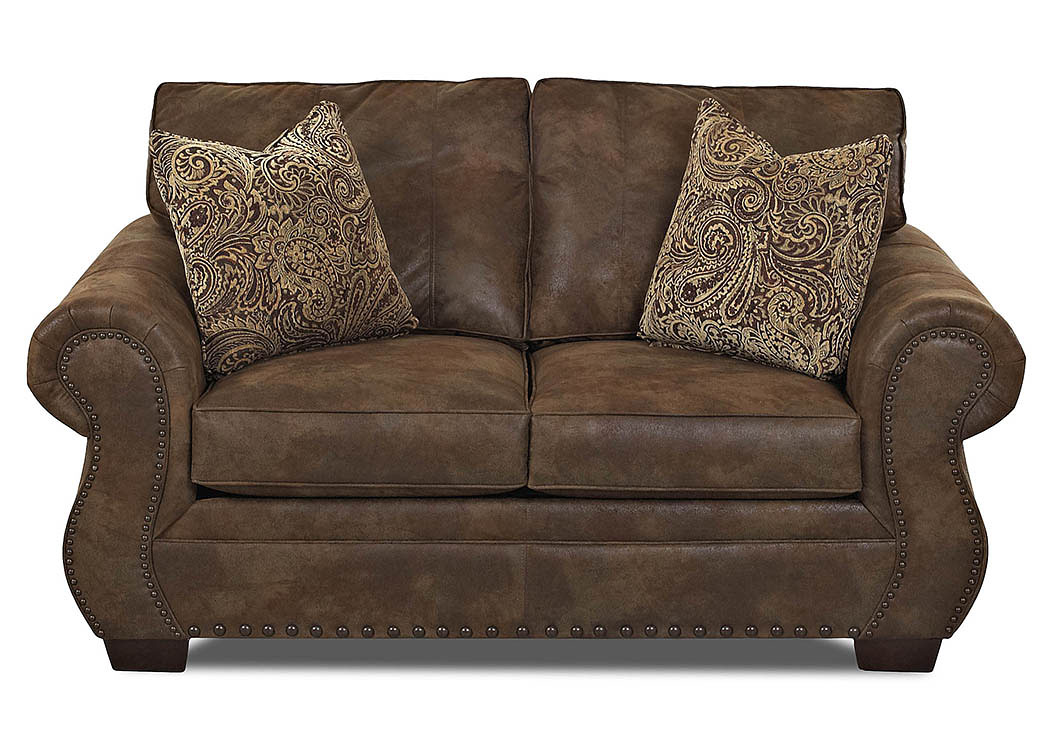 Blackburn Stag Tobacco Stationary Fabric Loveseat,Klaussner Home Furnishings