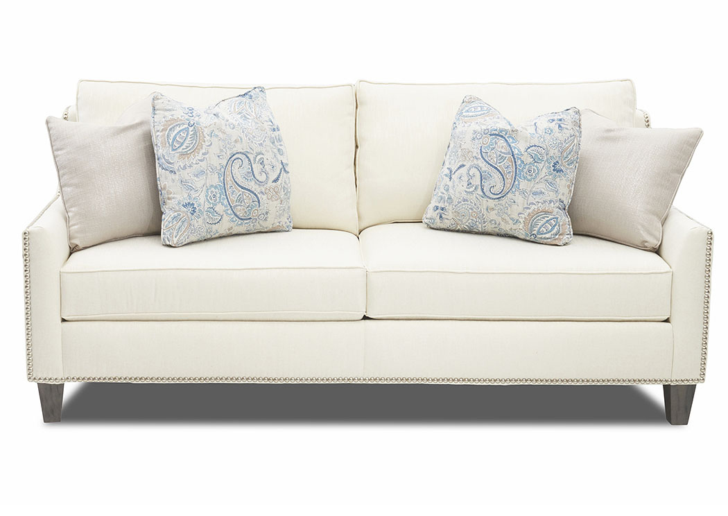 Emmy Tupelo Pearl Stationary Fabric Sofa,Klaussner Home Furnishings