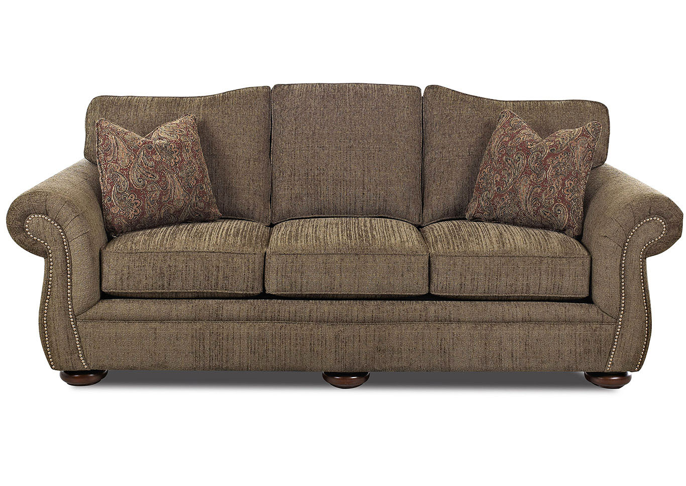 Platter Street Brown Stationary Fabric Sofa,Klaussner Home Furnishings