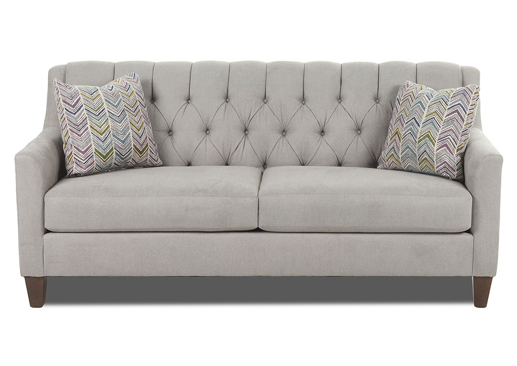 Laguna Gray Stationary Fabric Sofa,Klaussner Home Furnishings