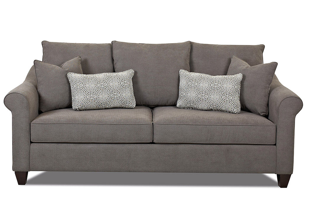 Diego Maze Charcoal Stationary Fabric Sofa,Klaussner Home Furnishings