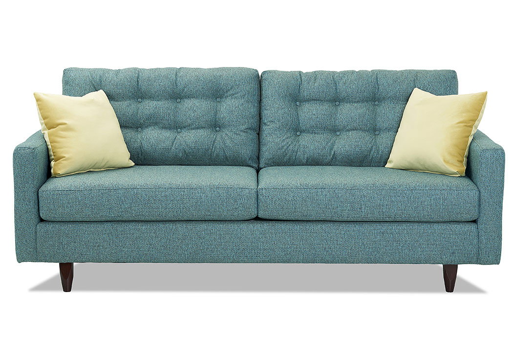 Craven Marvel Teal Stationary Fabric Sofa,Klaussner Home Furnishings