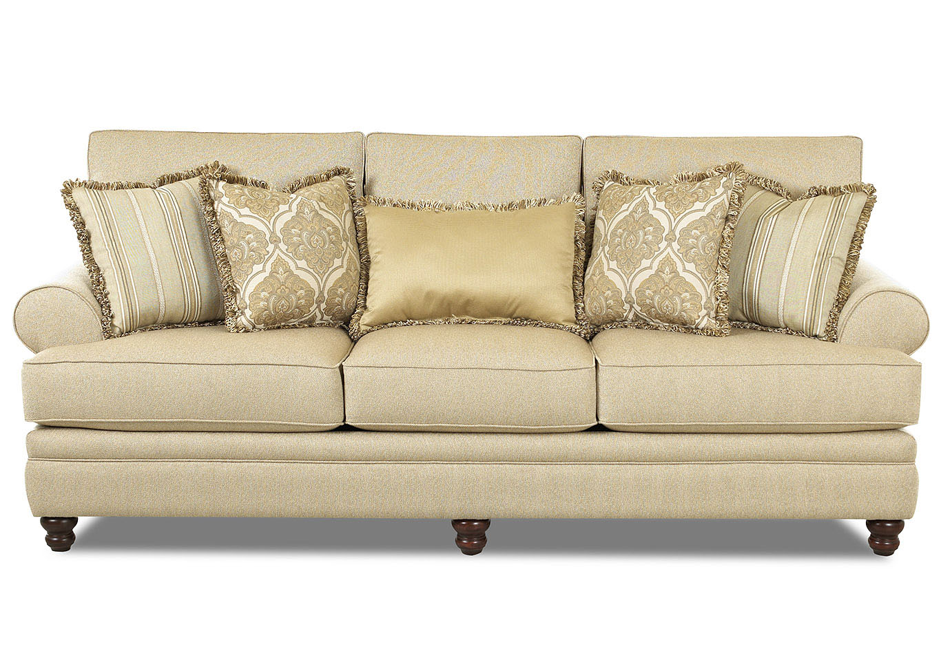 Darcy Milan-Straw Stationary Fabric Sofa,Klaussner Home Furnishings
