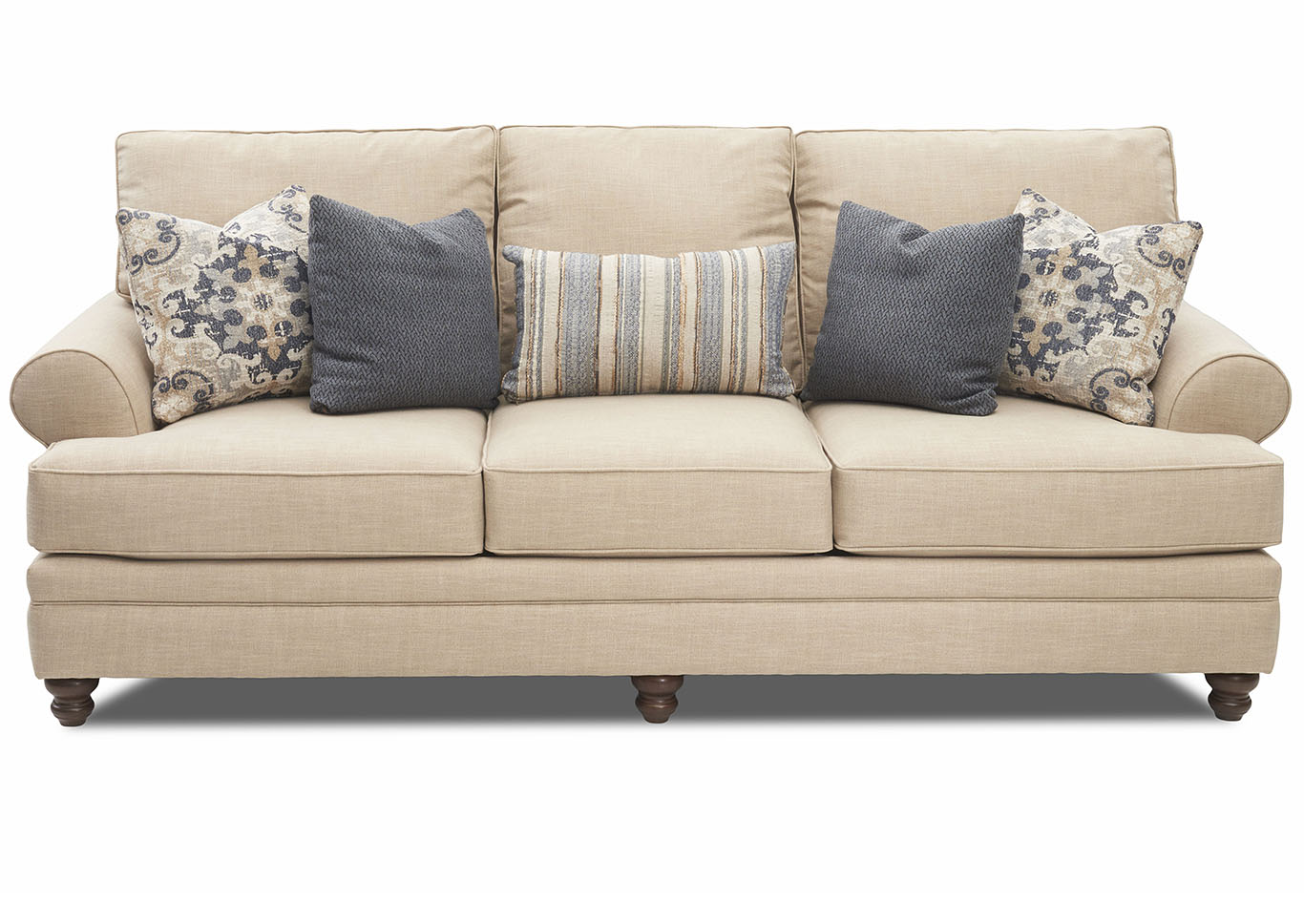 Darcy Beige Stationary Fabric Sofa Jesup Furniture Outlet