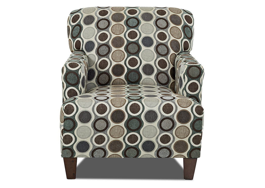 Tanner Celadon Multi-Colored Stationary Fabric Chair,Klaussner Home Furnishings