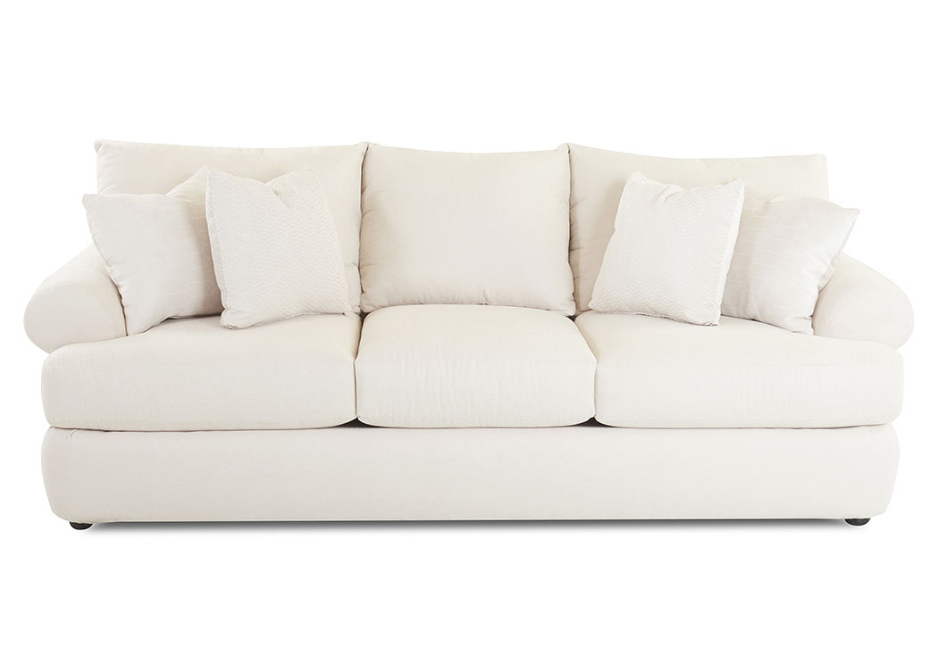 Cora Enello Rice White Stationary Fabric Sofa Best Buy Furniture And Mattress