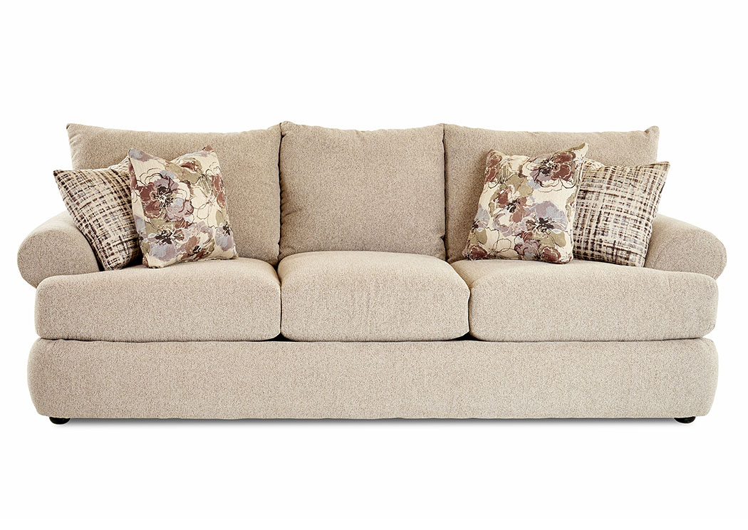 Cora Maxwell Camel Stationary Fabric Sofa,Klaussner Home Furnishings