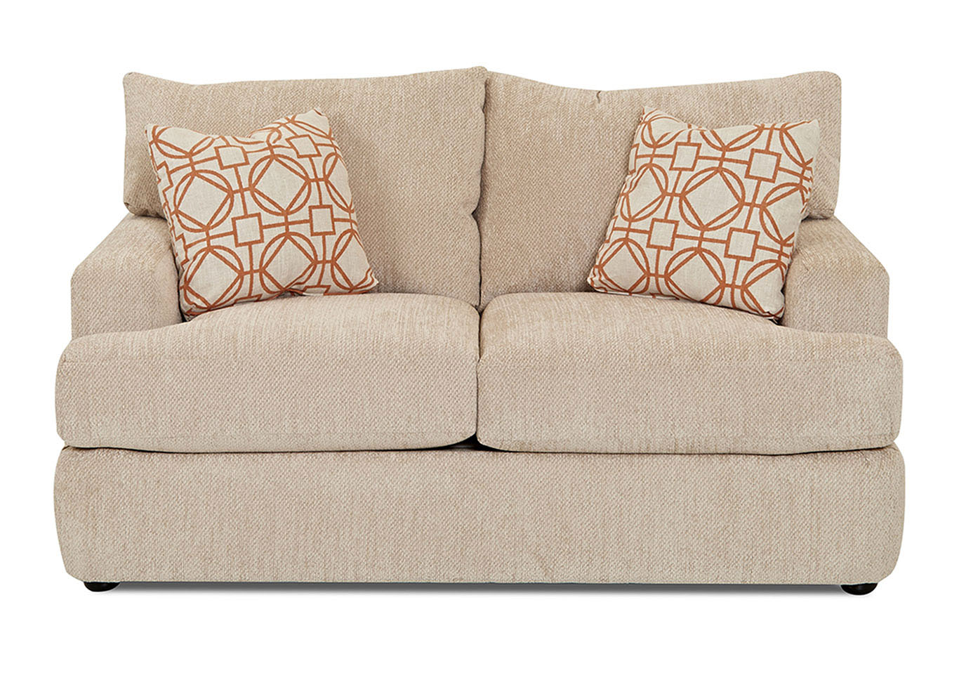 Oliver Stationary Fabric Loveseat,Klaussner Home Furnishings