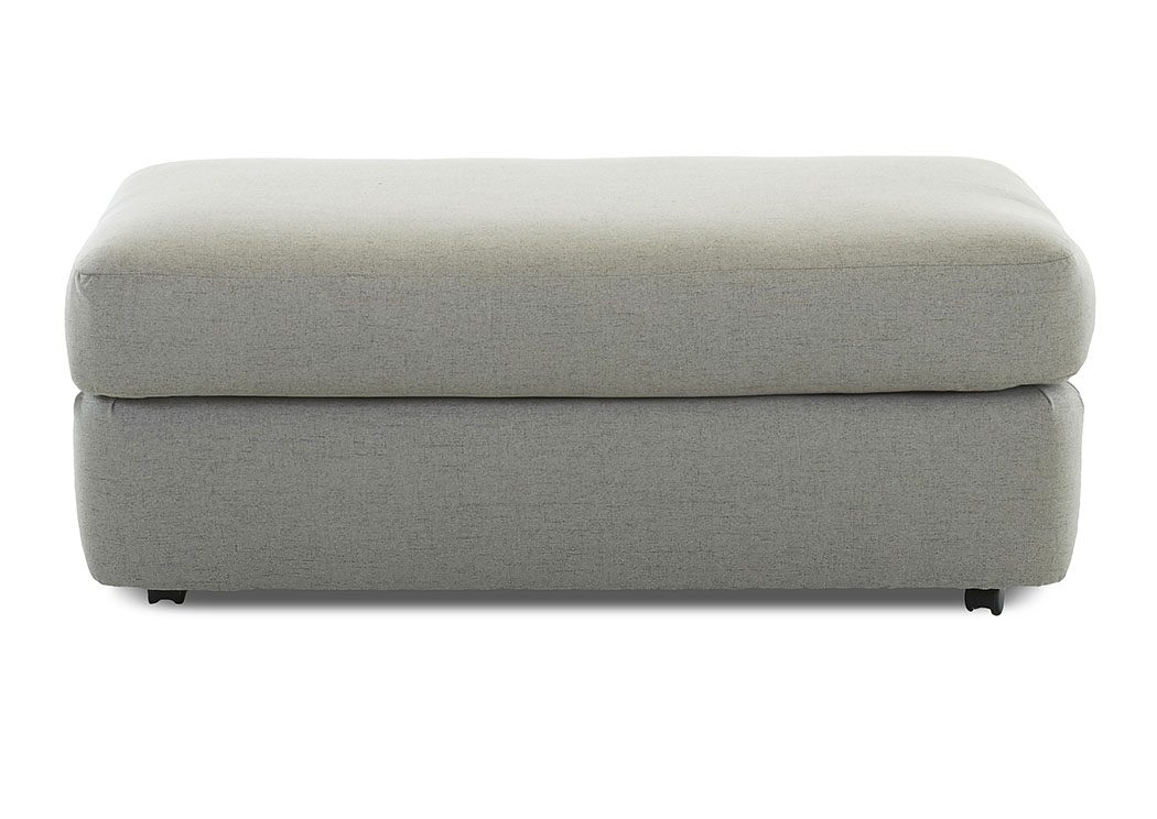 Oliver Lucas Ash Fabric Ottoman,Klaussner Home Furnishings