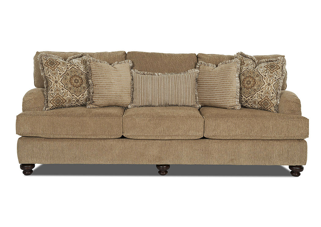 Declan Frenzy Cashmere Stationary Fabric Sofa,Klaussner Home Furnishings
