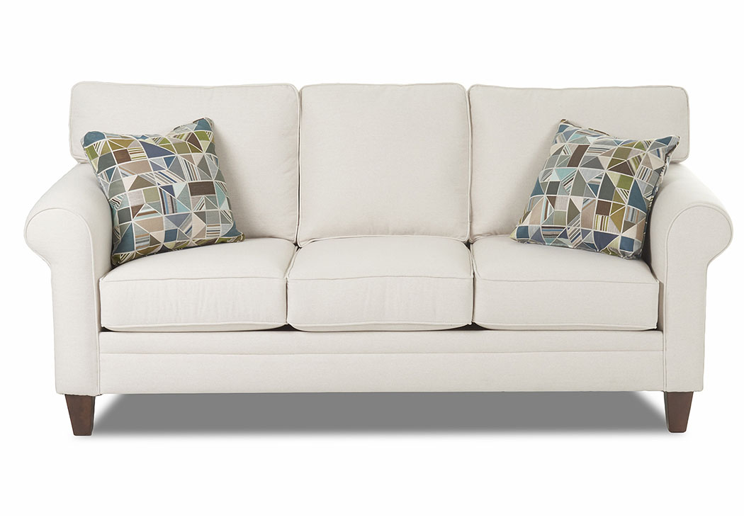 Gates Beige Stationary Fabric Sofa,Klaussner Home Furnishings