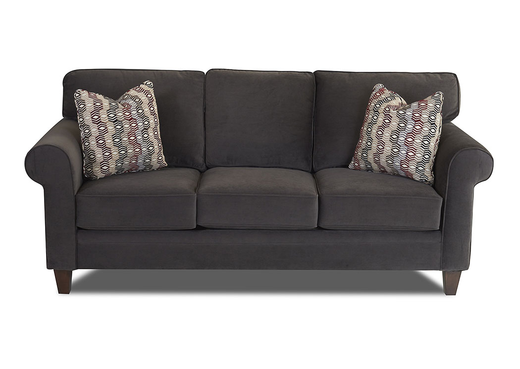 Gates Asphalt Stationary Fabric Sofa,Klaussner Home Furnishings