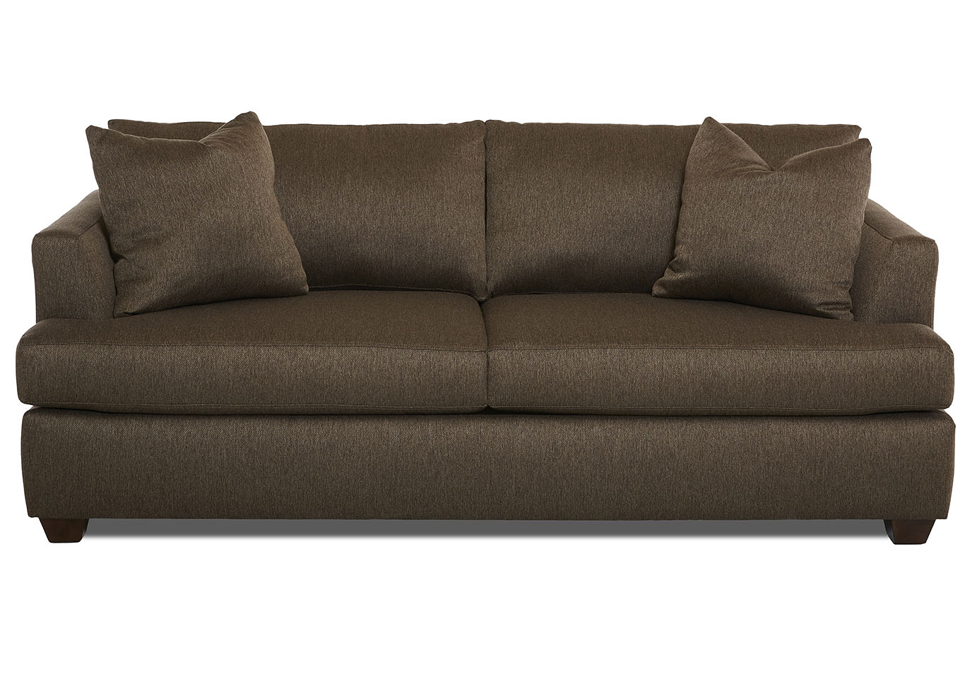 Jack Cocoa Stationary Fabric Sofa,Klaussner Home Furnishings