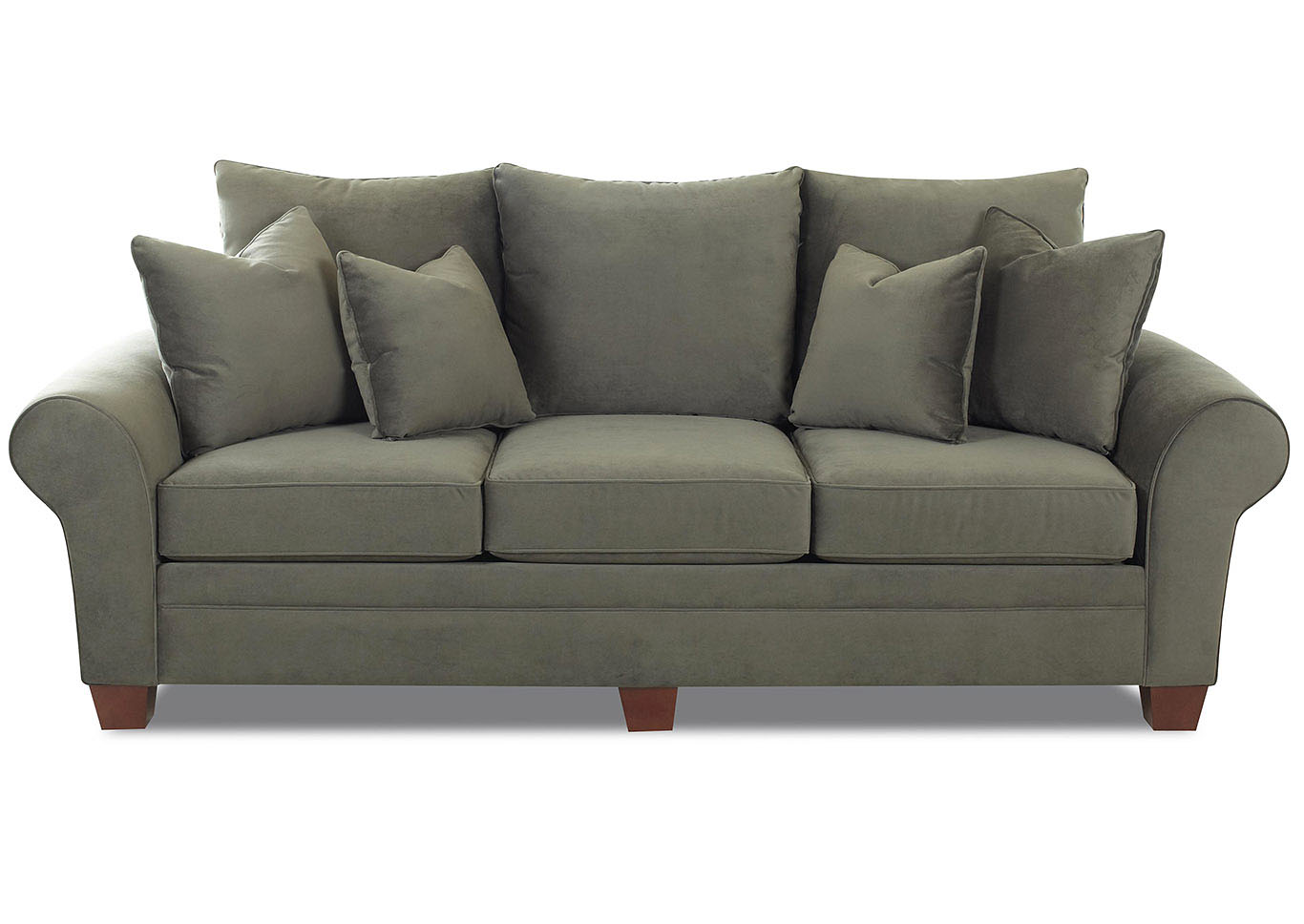 Kazler Pewter Stationary Fabric Sofa,Klaussner Home Furnishings