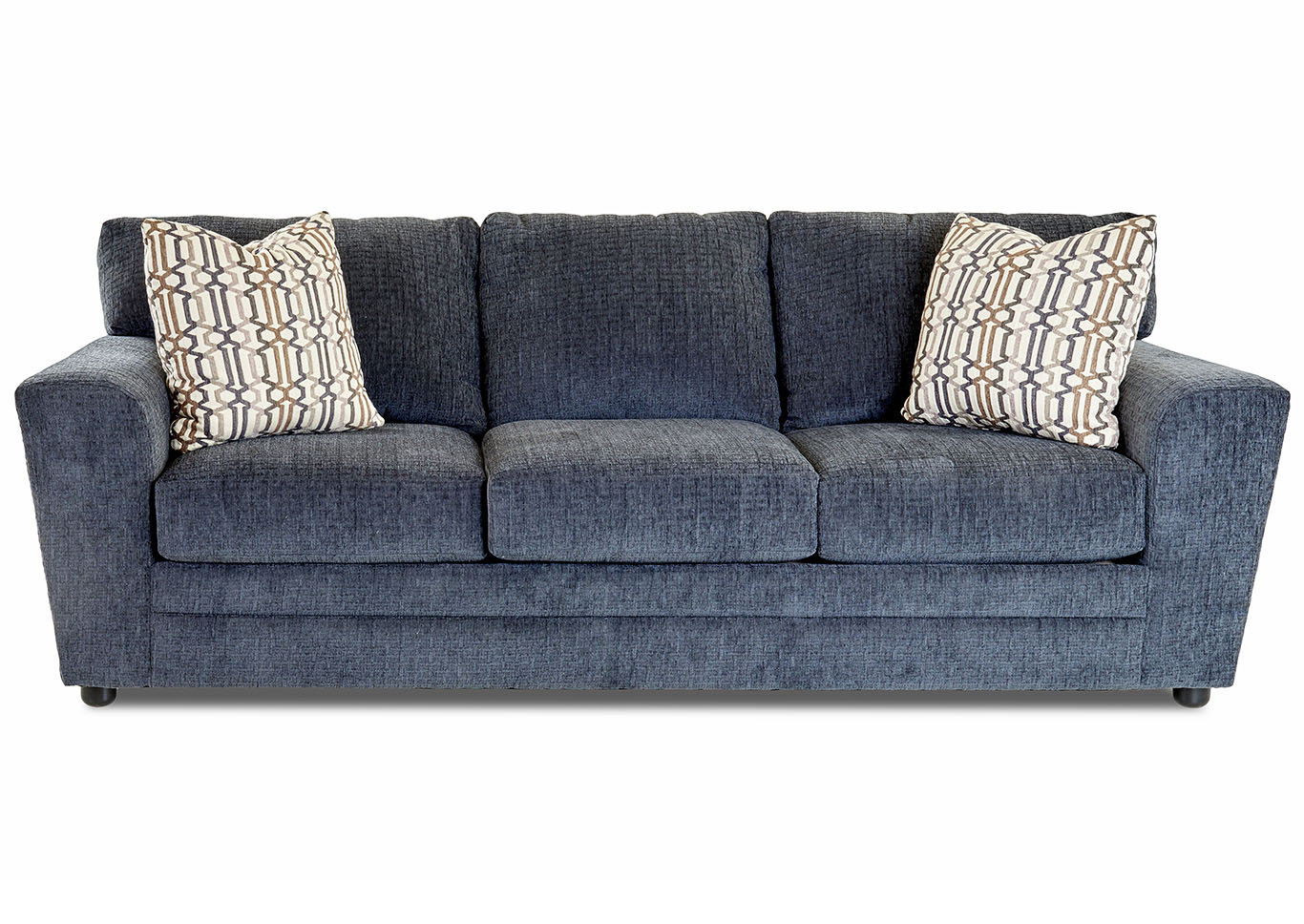 Ashburn Ultimate Pheasant Blue Stationary Fabric Sofa,Klaussner Home Furnishings