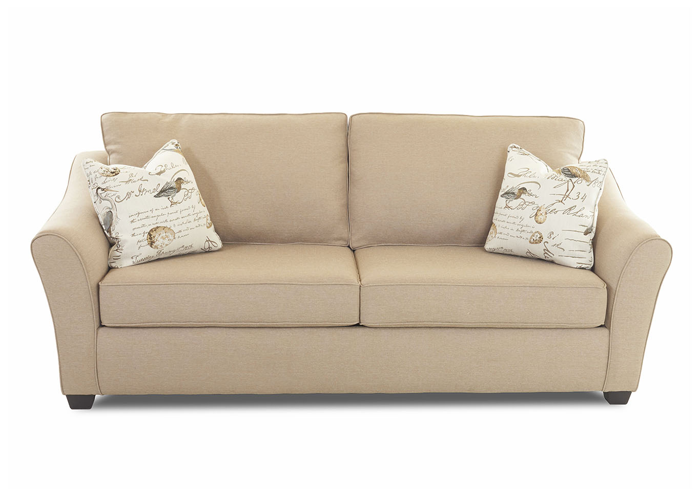 Linville Flax Sleeper Fabric Sofa,Klaussner Home Furnishings