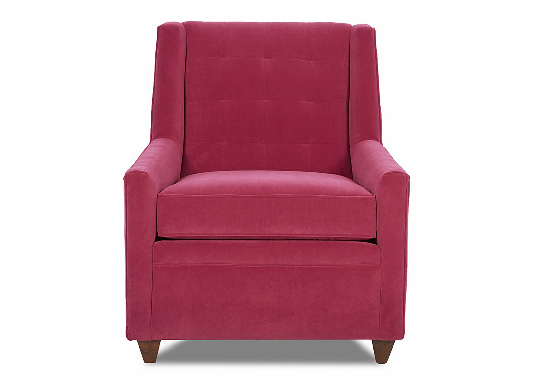 Midtown Hermes Arroya Red Stationary Fabric Chair,Klaussner Home Furnishings
