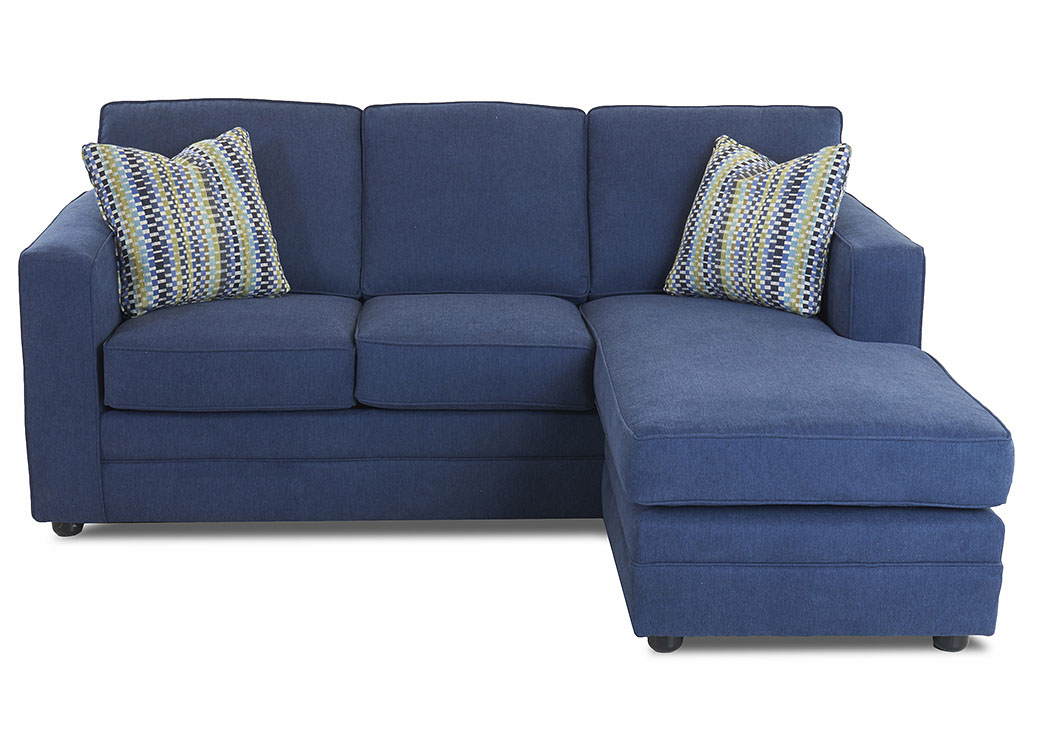 Berger Capri Ocean Blue Sleeper Fabric Sofa,Klaussner Home Furnishings
